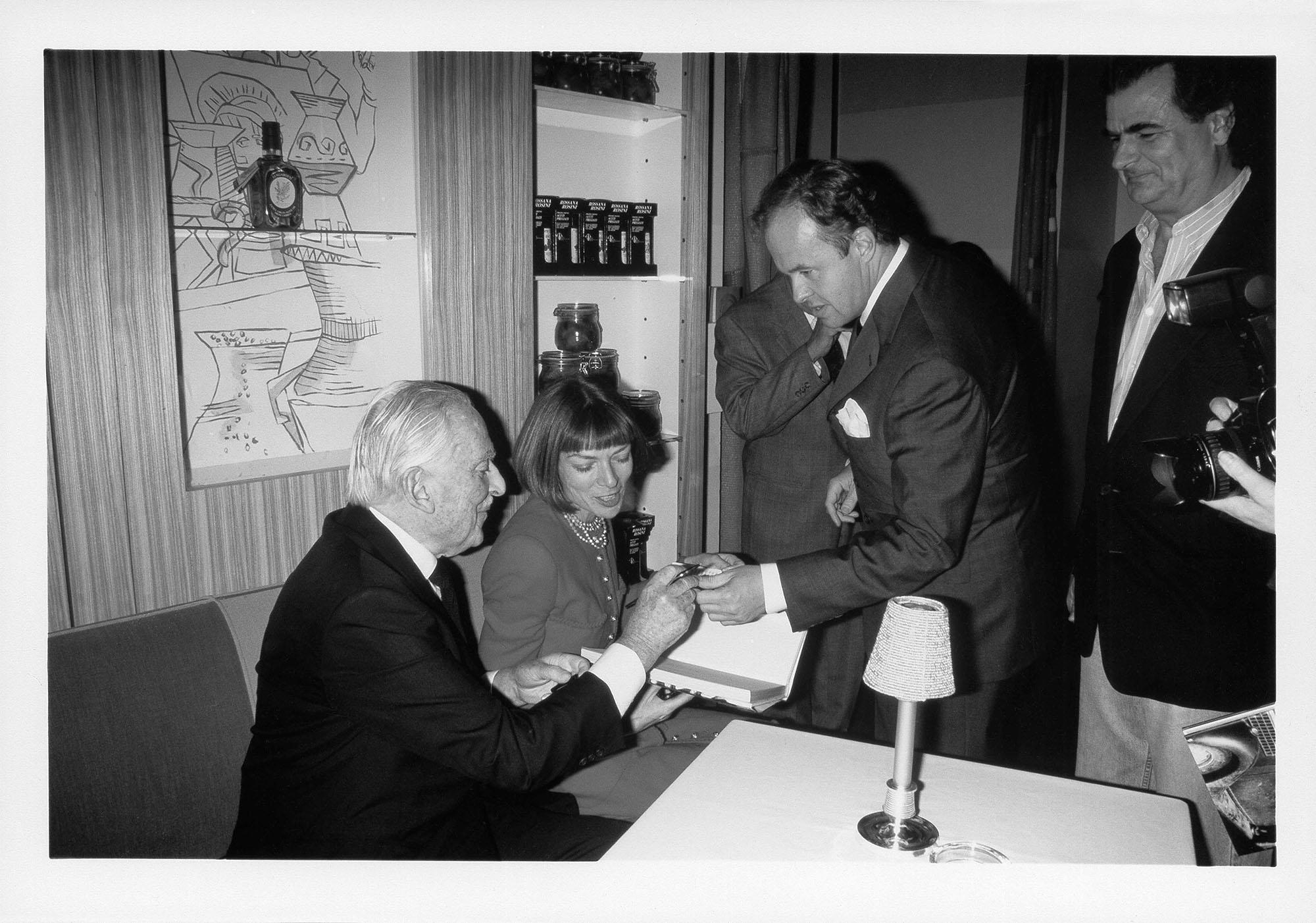 Alex Liberman, Anna Wintour, Charles Churchward, Patrick Demarchier, NYC 1994.