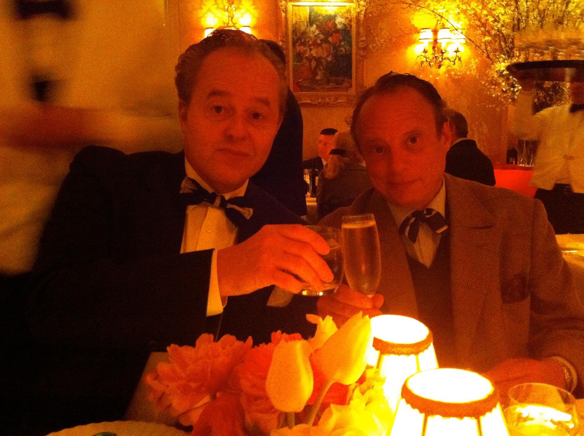 Charles Churchward and Jonathan Becker, La Grenouille, NYC, 2011.