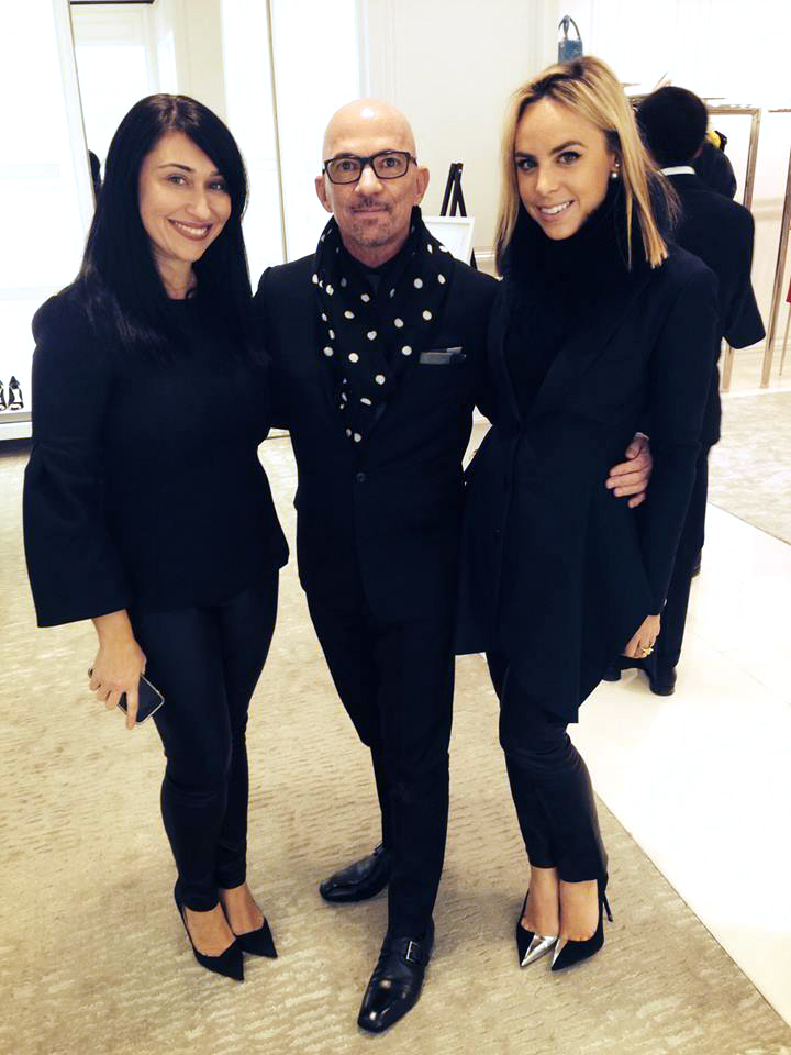 L-R: Kathy Doiban, Vice President Christian Dior Couture, Bil, Taylor Olson, Director of Client Relations Christian Dior Couture.