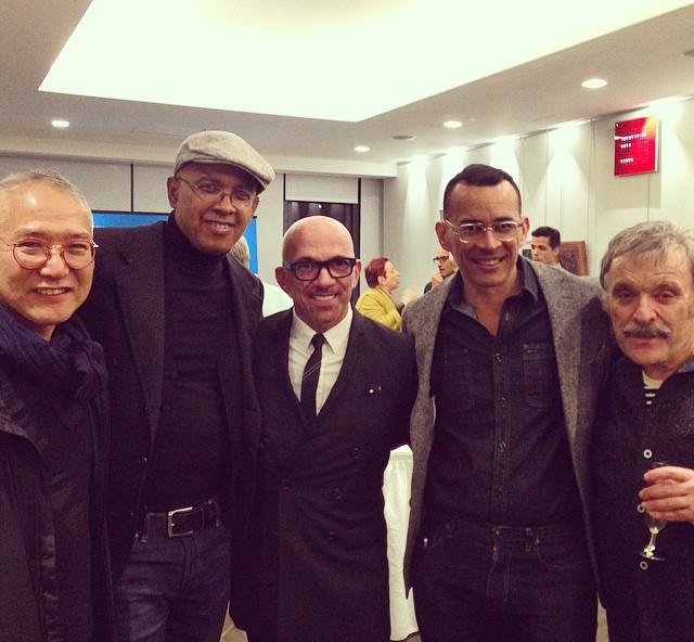 Legendary fashion illustrators. L-R: Kichisaburo Ogawa, Glenn Tunstull, Bil Donovan, Carlos Aponte, Steven Stipelman.