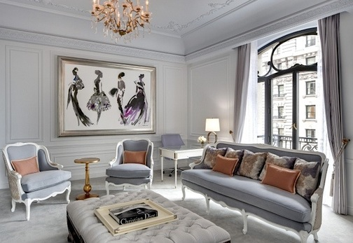 Christian Dior Suite at the St. Regis NYC.